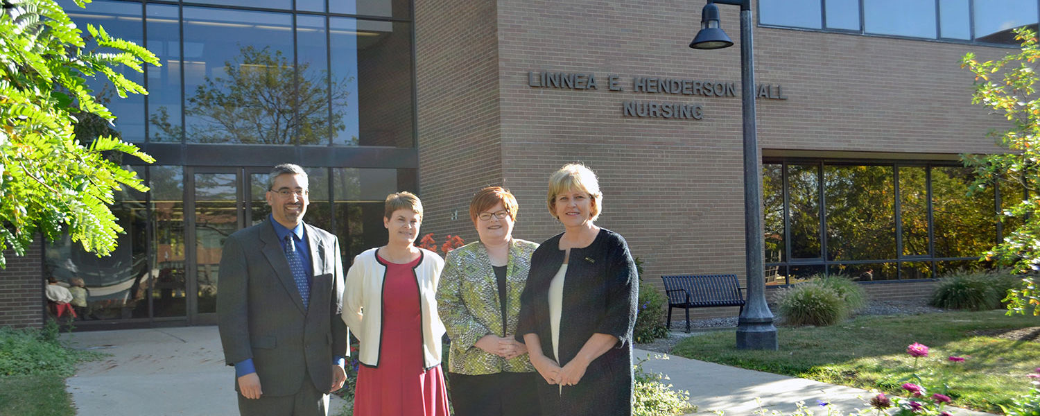 (From left) Dr. Mark Arredondo, Dr. Kimberly Williams, Dr. Andrea Warner Stidham and Dr. Wendy Umberger were awarded a $1.1 million grant from the Health Resources and Services Administration.