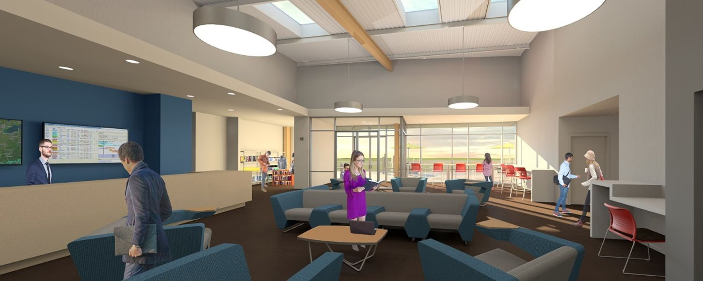 image proposed Airport Academic Building Interior