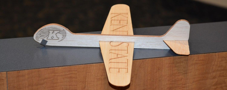 photo 2016 Aero Safety Day Kent State wooden glider toy