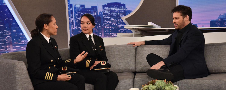 photo CAE alumnus Captain Stephanie Johnson on Harry tv show