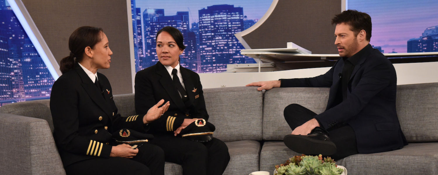photo CAE alumnus Captain Stephanie Johnson on Harry tv show