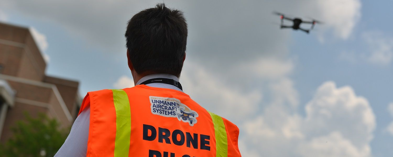 photo Jason Lorenzon piloting an unmanned aircraft