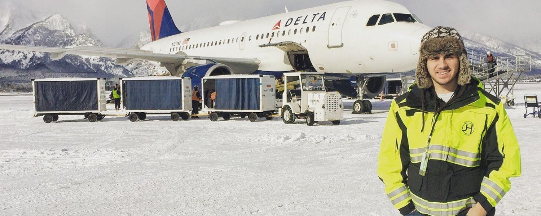 photo student intern Jackson Hole Airport aeronautics