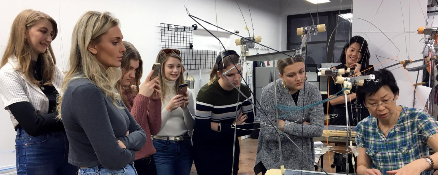 Students on a New York Study Tour class visit