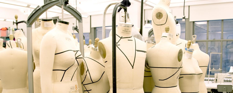 Dress forms in the Design Studio