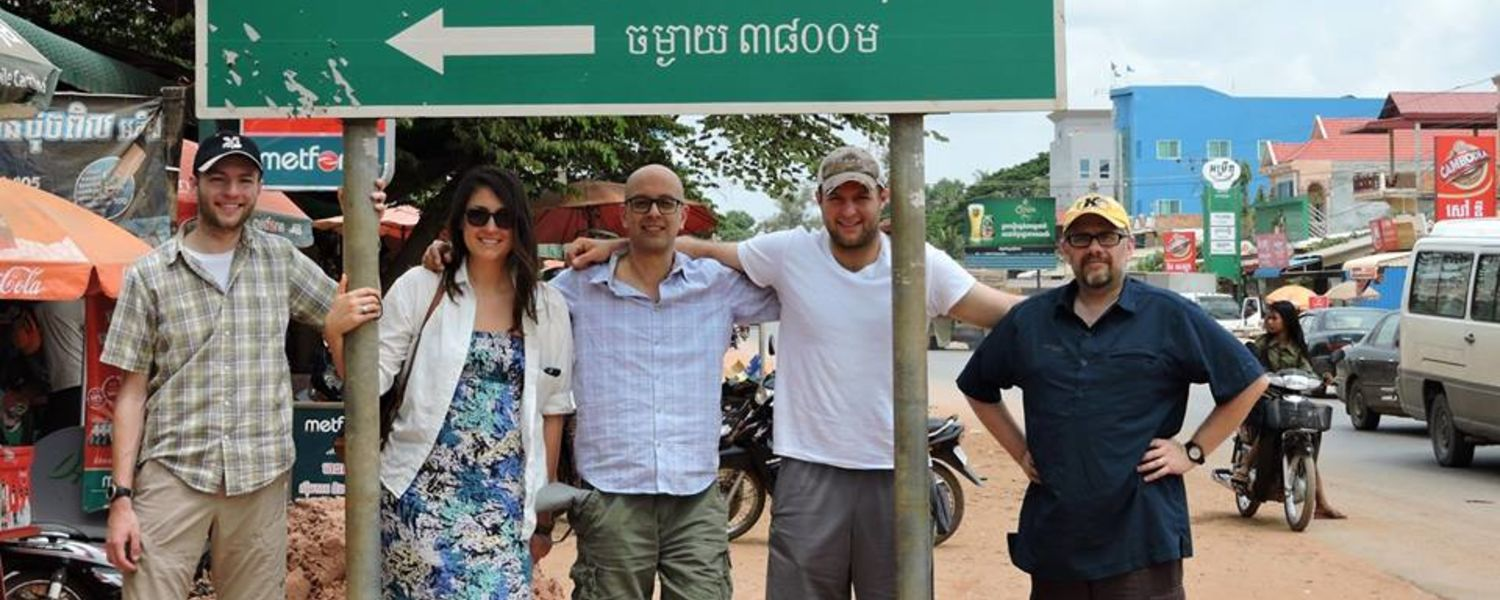 An image of individuals on the Social Geography of Cambodia research trip
