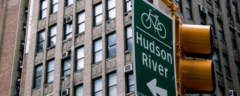 Hudson River sign