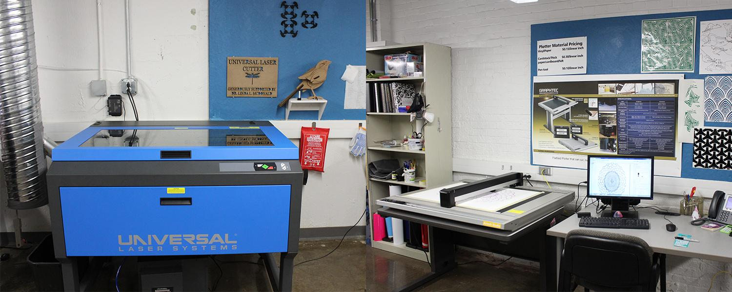 ARTech Studio - universal laser cutter and plotter with computer