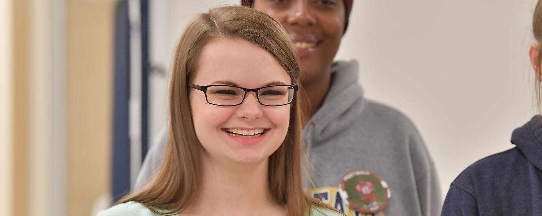 Female Ashtabula Campus student smiling