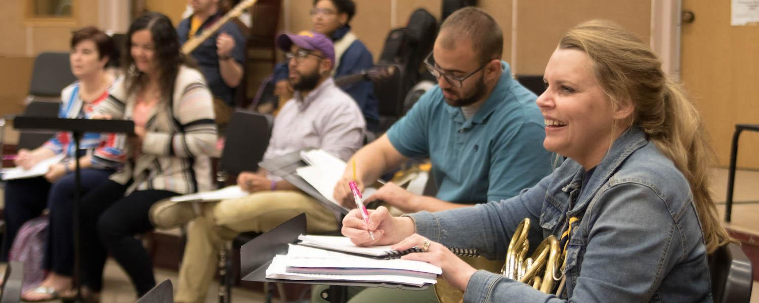 Students in Kent State summer music education class