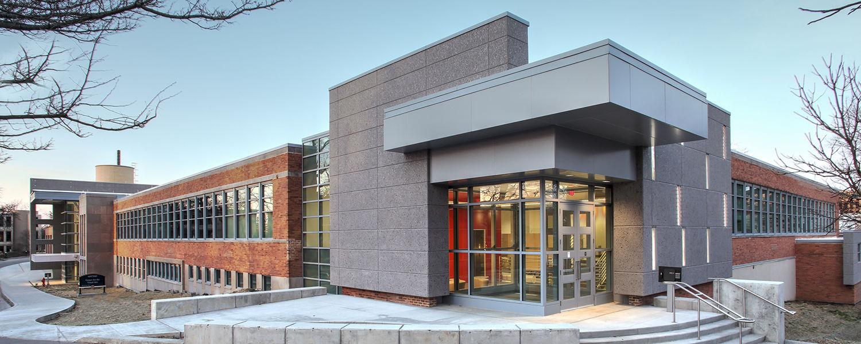 Center for the Visual Arts, exterior photo of esplanade entrance