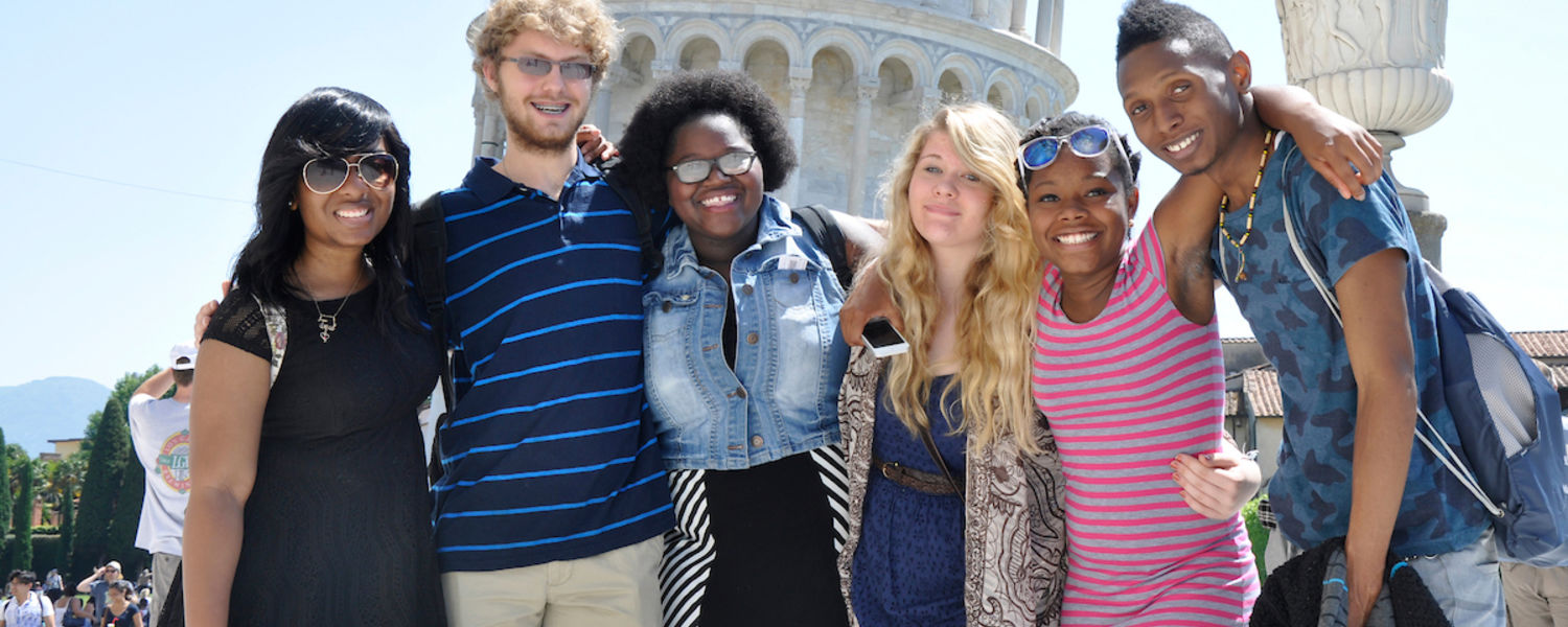 Group of students on a study abroad trip