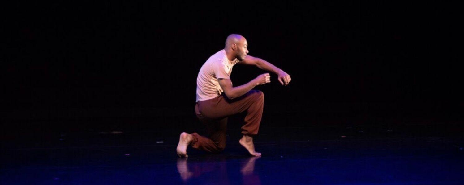 Dance student performs