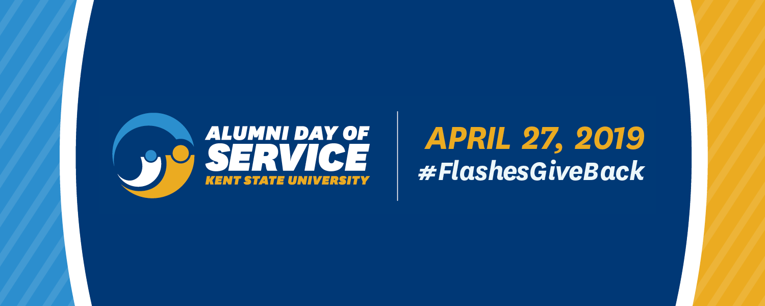Alumni Day of Service. Kent State University. April 27, 2019. #FlashesGiveBack