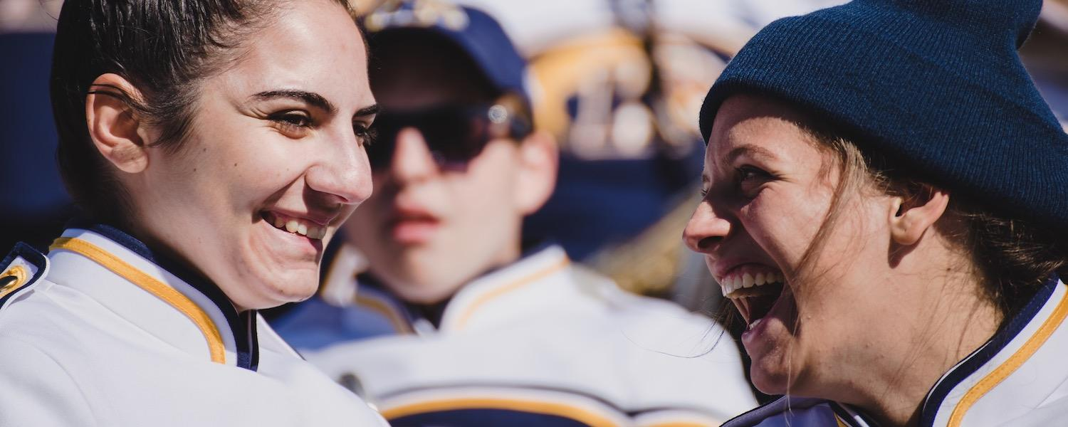 Students in Marching Golden Flashes | Photo Credit: Mason G. Smith