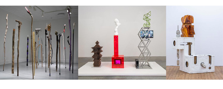 Sculptures by Douglas Rieger, Eli Kessler and Chris Mahonski