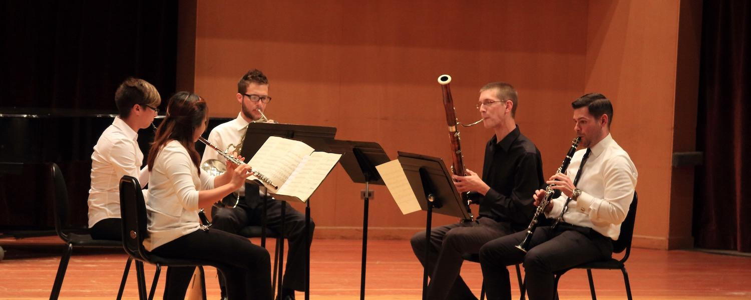 Students performing during Kent Blossom Music Festival