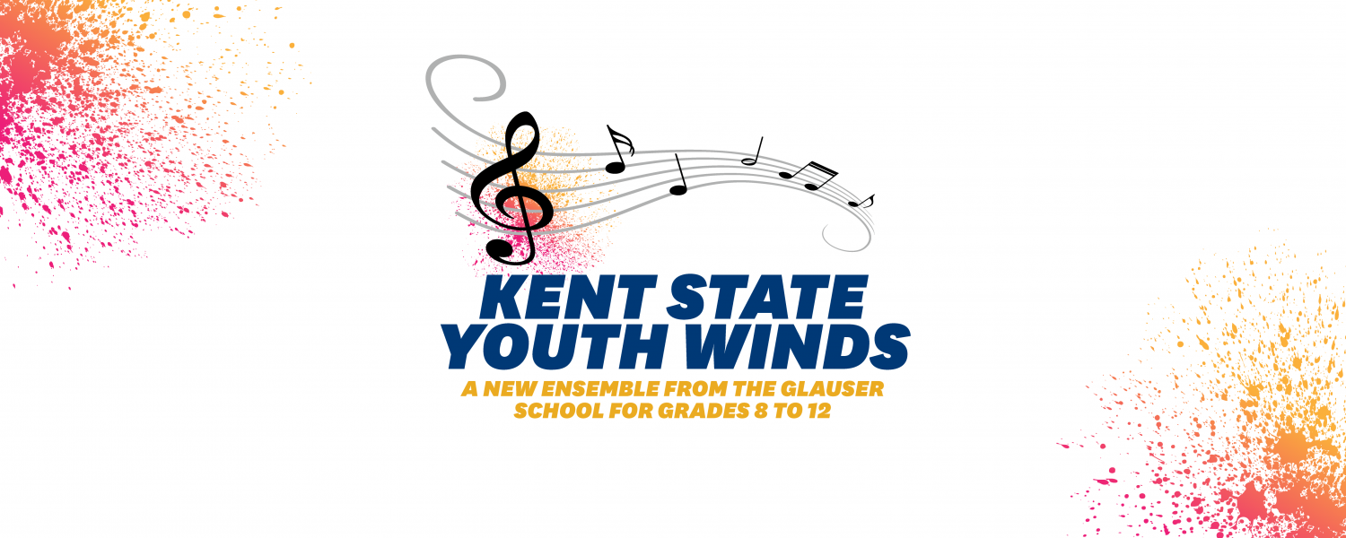 Ensemble graphic icon with the words Kent State Youth Winds: A New Ensemble for Grades 8 to 12