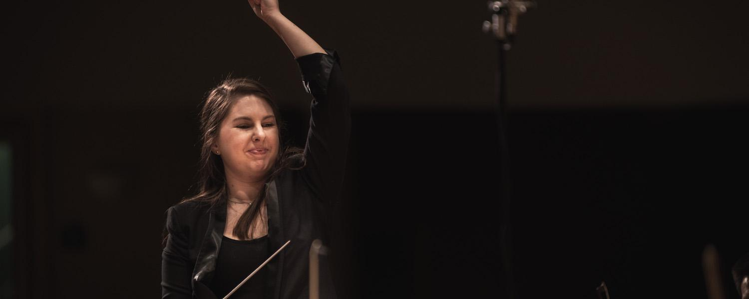 Karen Ní Bhroin (MM in Conducting '20) | Photo Credit: Mason Smith