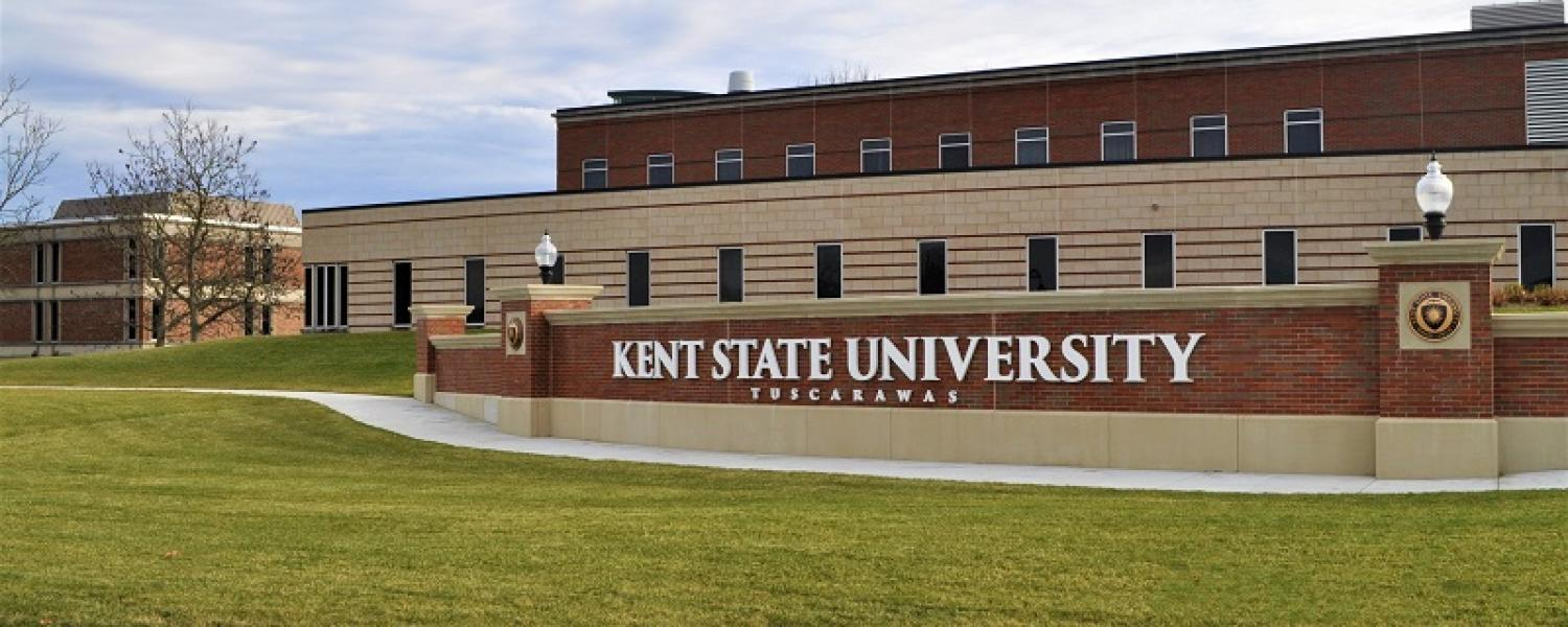 picture of KSU Tusc welcome wall