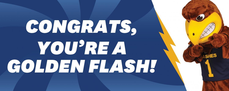 Congrats, You're a Golden Flash!