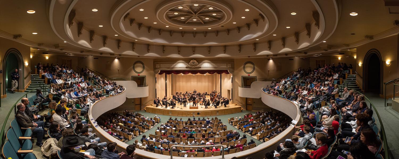 Concert in Cartwright Hall, University Auditorium