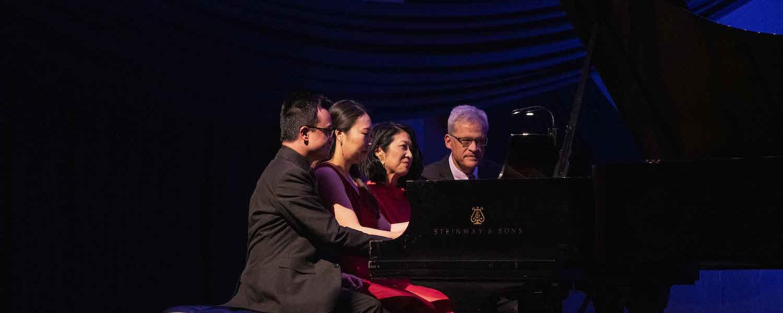 Piano faculty performing