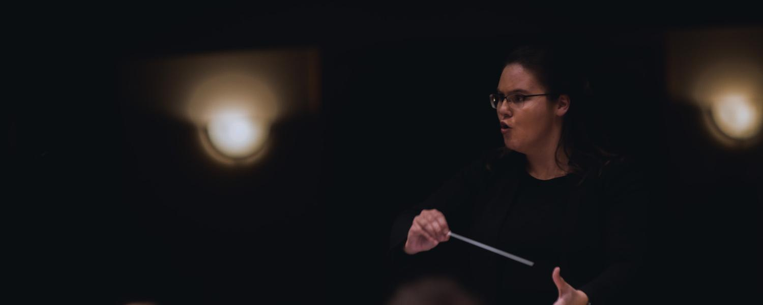 Sarah Kois (MM in Conducting '20) | Photo Credit: Mason Smith