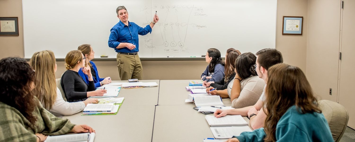 Professor teaching class in the College of Education, Health and Human Services at Kent State University