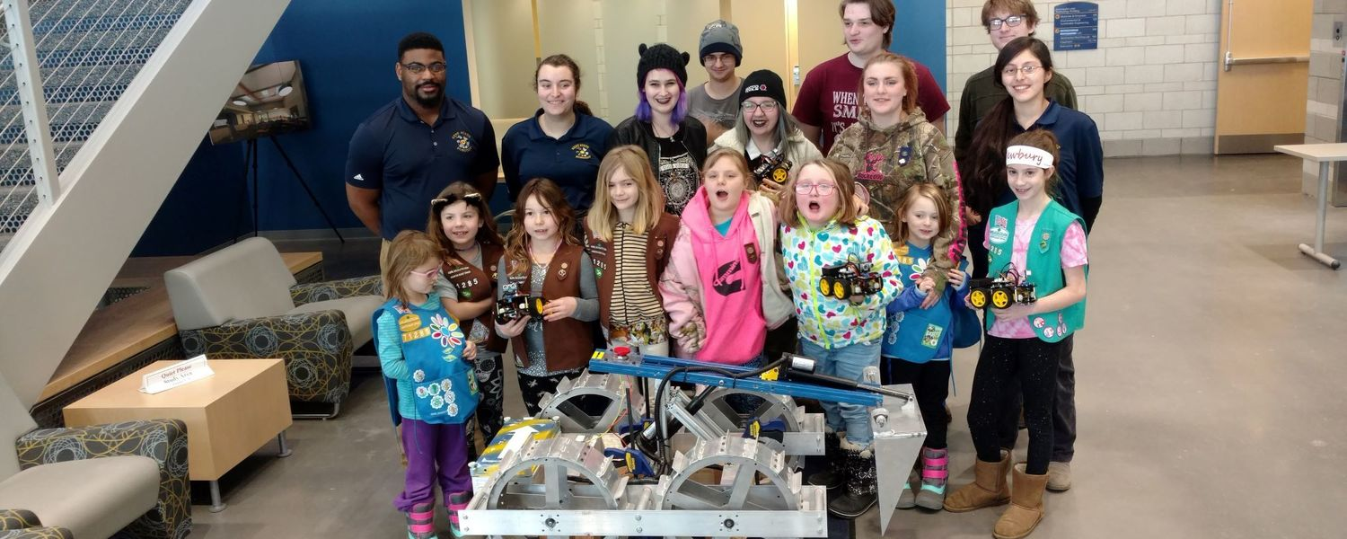 Girl scouts visit withe the NASA Robotics Team