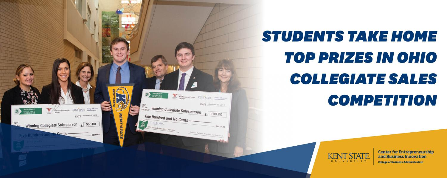 students take home top prizes in Ohio collegiate sales competition