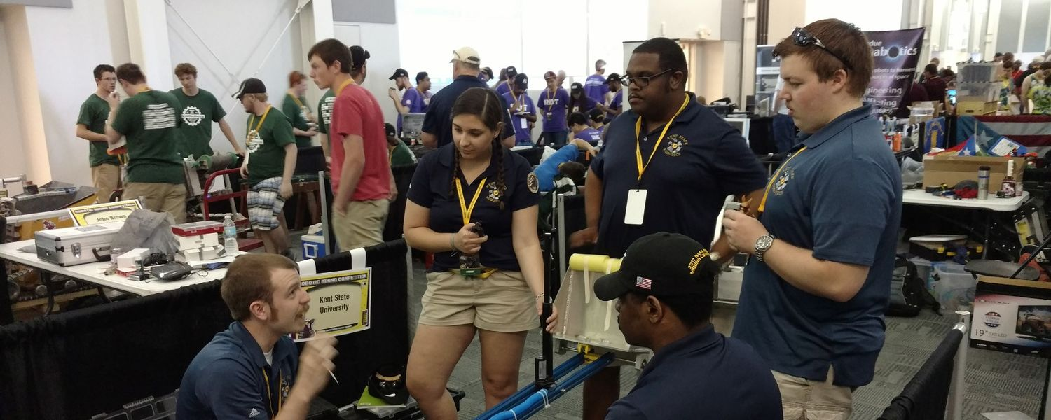 photo 6 Kent State Robotics team at NASA Robotic Mining Competition, May 2017
