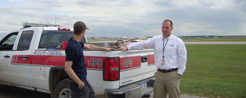 photo Aviation Management graduate Drew at Detroit Metro Airport