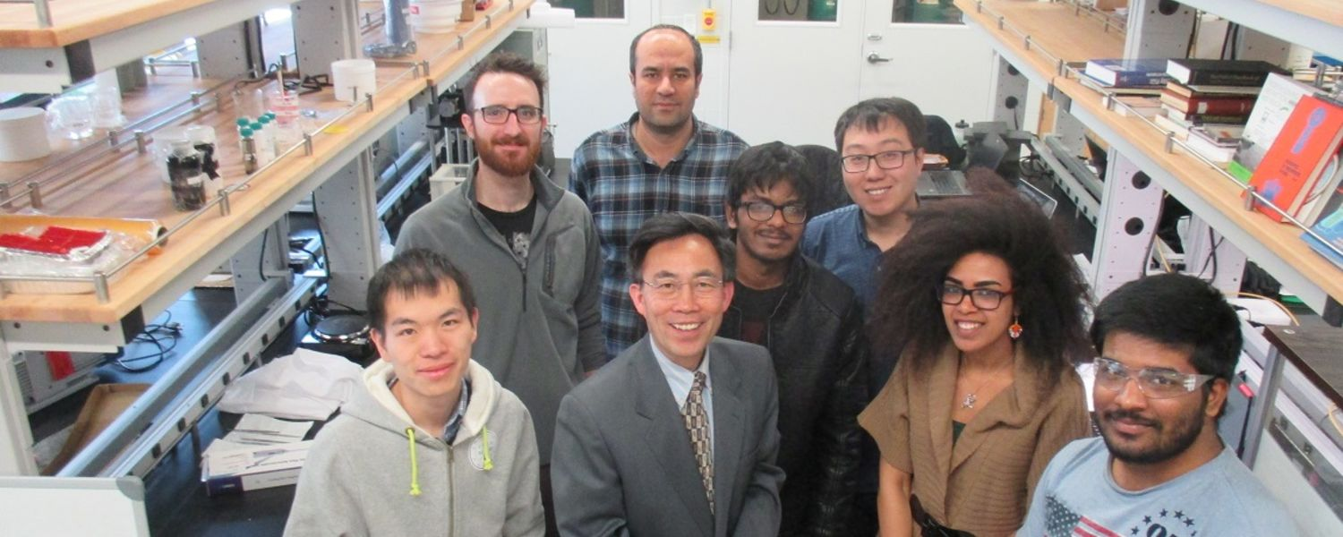 photo Fuel Cell Research Team group in lab 2017