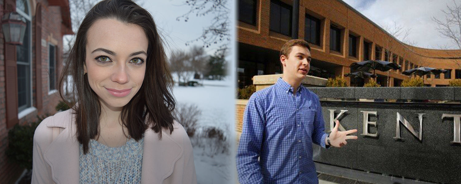 Bruno Beidacki and Tess Cottom, Kent State Students