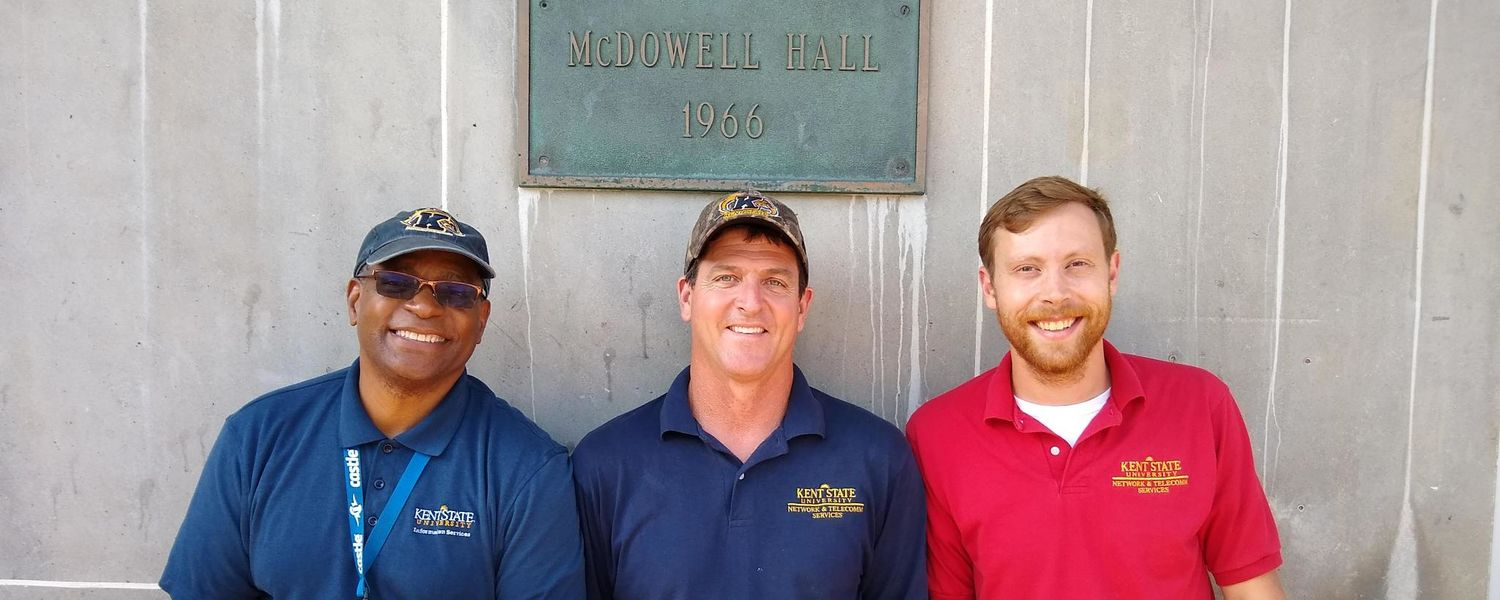 Network Team in front of McDowell