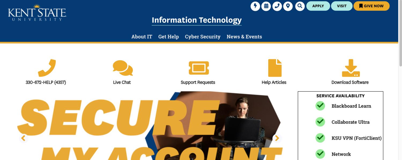 New IT Homepage Screenshot