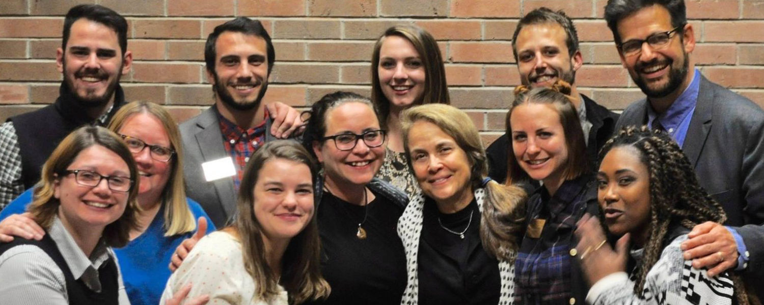 Naomi Shihab Nye with the Wick Staff