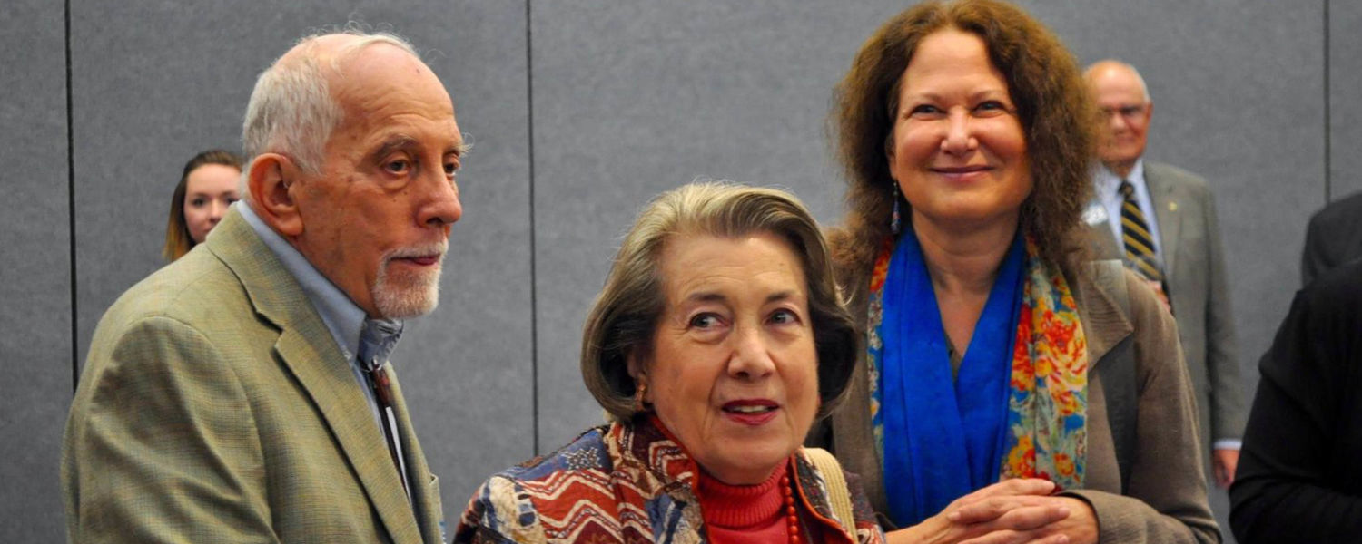 Jane Hirshfield with Sandy and Nora Marovitz