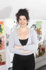 Photo of Corrie Slawson in her studio
