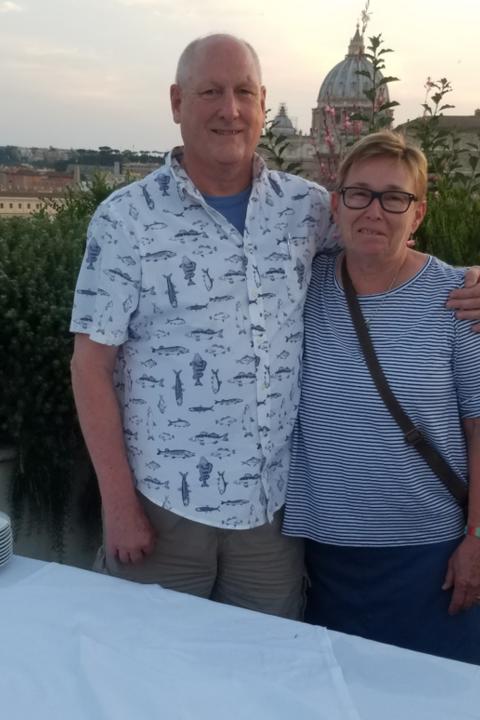 Tim & Sue in Rome 2018