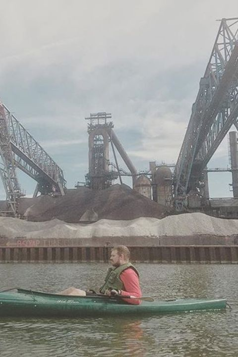 Industrial Backdrop to Kayaking