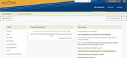 Screenshot of Blackboard