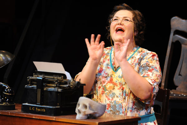 "A student performs in ""You Can't Take It With You"" directed by Roe Green Visiting Director Kathleen F. Conlin"