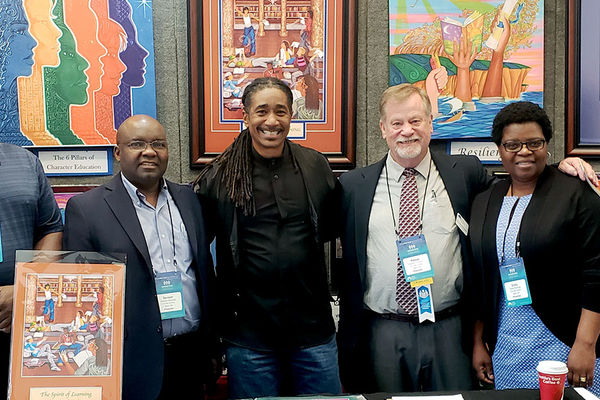 CTTE faculty with child advocacy artist George E. Miller II