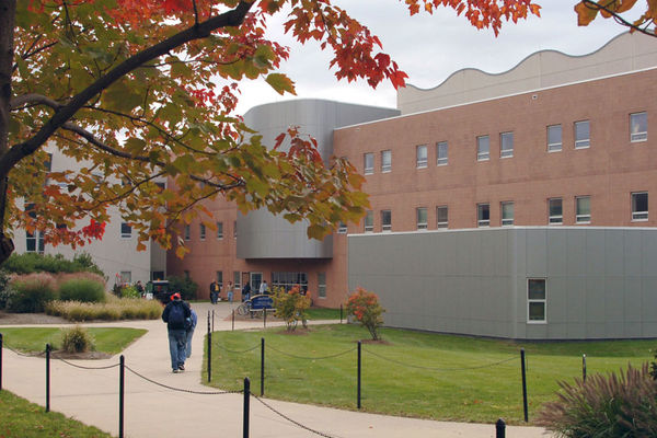 The Mathematics and Computer Science Building on an early fall day.