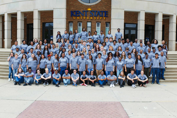Upward Bound students pose for group photo