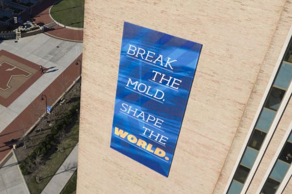 Break the mold banner