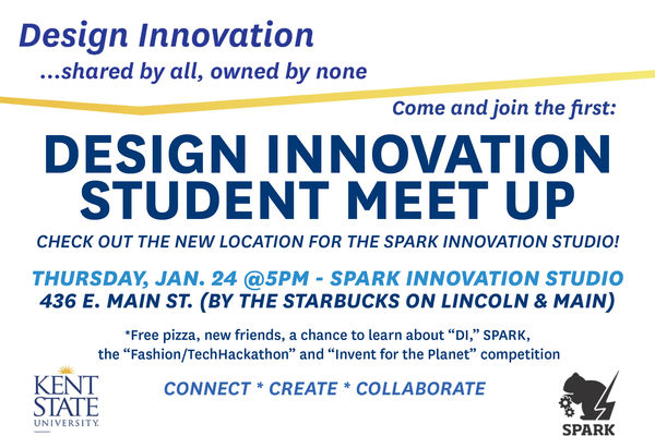 Poster for design innovation student meet up