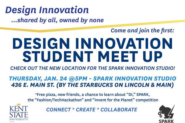 Poster for design innovation student meet up